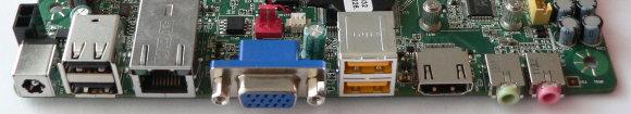 Intel DN2800MT mini-ITX Atom CedarView mainboard драйвер видеокарты amd radeon r7 kaveri - rear view